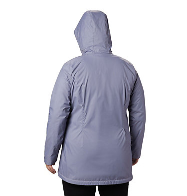 Women's Switchback™ Lined Long Jacket - Plus Size Switchback™ Lined Long Jacket | 671 | 2X, New Moon, Twilight Lining, back