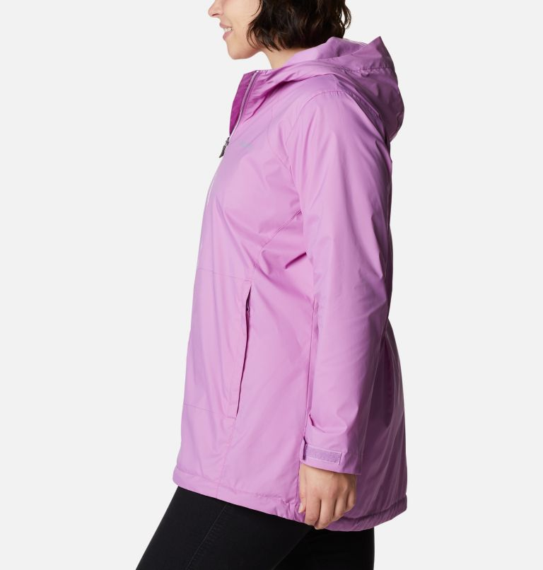 Switchback™ Lined Long Jacket | 605 | 3X Women's Switchback™ Lined Long Jacket - Plus Size, Blossom Pink, a1