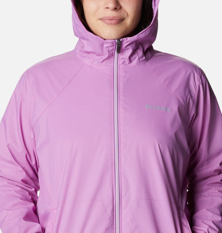 Switchback™ Lined Long Jacket | 605 | 3X Women's Switchback™ Lined Long Jacket - Plus Size, Blossom Pink, a2