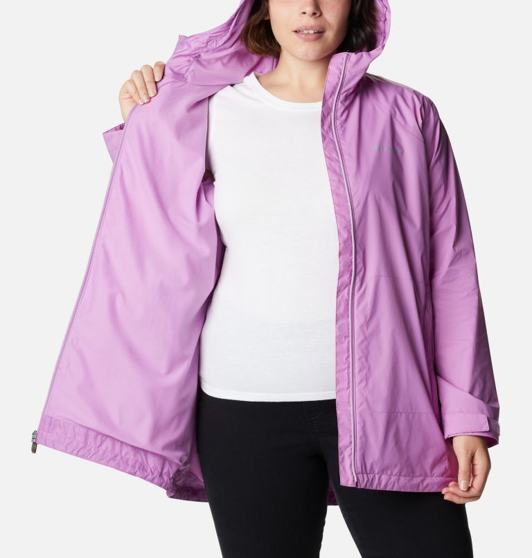 Switchback™ Lined Long Jacket | 605 | 3X Women's Switchback™ Lined Long Jacket - Plus Size, Blossom Pink, a3
