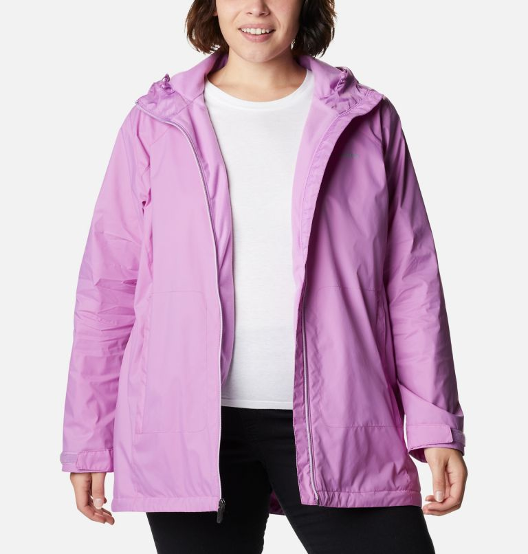 Switchback™ Lined Long Jacket | 605 | 3X Women's Switchback™ Lined Long Jacket - Plus Size, Blossom Pink, a6