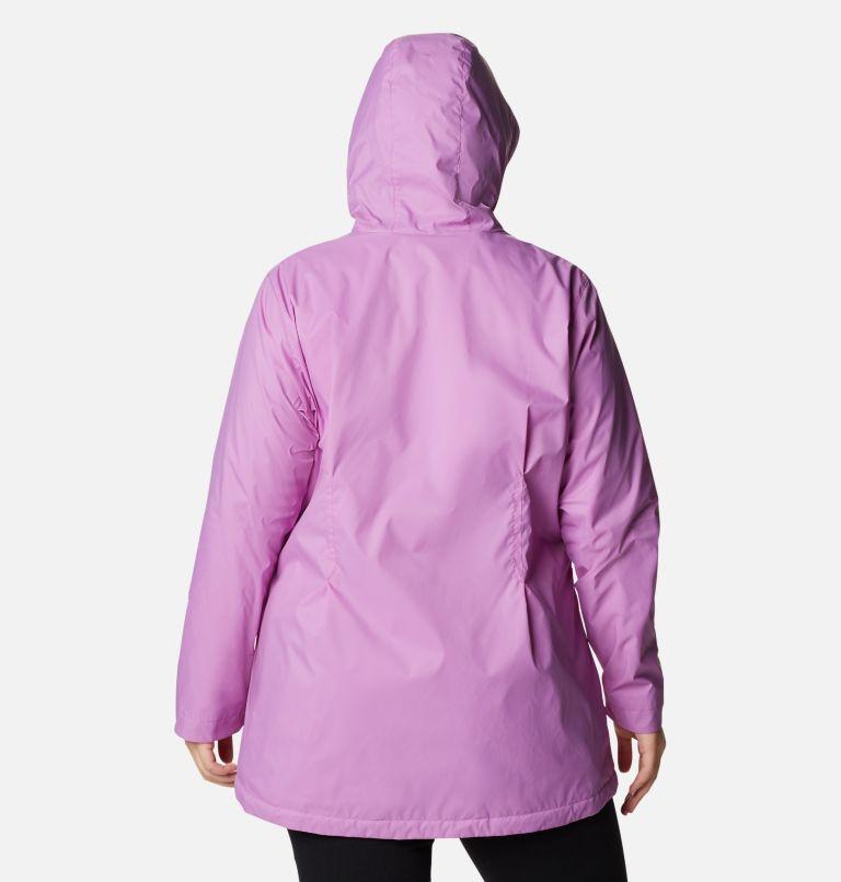 Switchback™ Lined Long Jacket | 605 | 3X Women's Switchback™ Lined Long Jacket - Plus Size, Blossom Pink, back