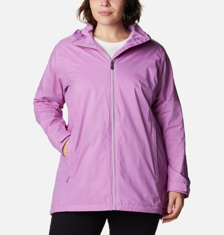Switchback™ Lined Long Jacket | 605 | 3X Women's Switchback™ Lined Long Jacket - Plus Size, Blossom Pink, front