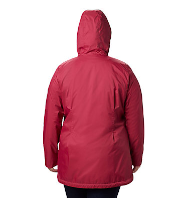 Women's Switchback™ Lined Long Jacket - Plus Size Switchback™ Lined Long Jacket | 671 | 2X, Red Orchid, Red Orchid Lining, back