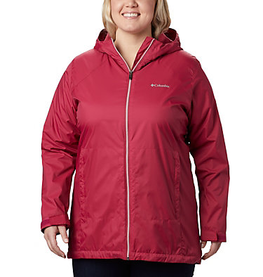 Women's Switchback™ Lined Long Jacket - Plus Size Switchback™ Lined Long Jacket | 671 | 2X, Red Orchid, Red Orchid Lining, front