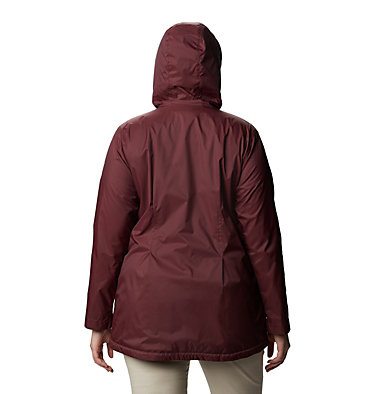 Women's Switchback™ Lined Long Jacket - Plus Size Switchback™ Lined Long Jacket | 671 | 2X, Malbec, back