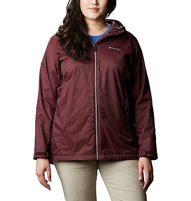 Women's Switchback™ Lined Long Jacket - Plus Size Switchback™ Lined Long Jacket | 671 | 2X, Malbec, front