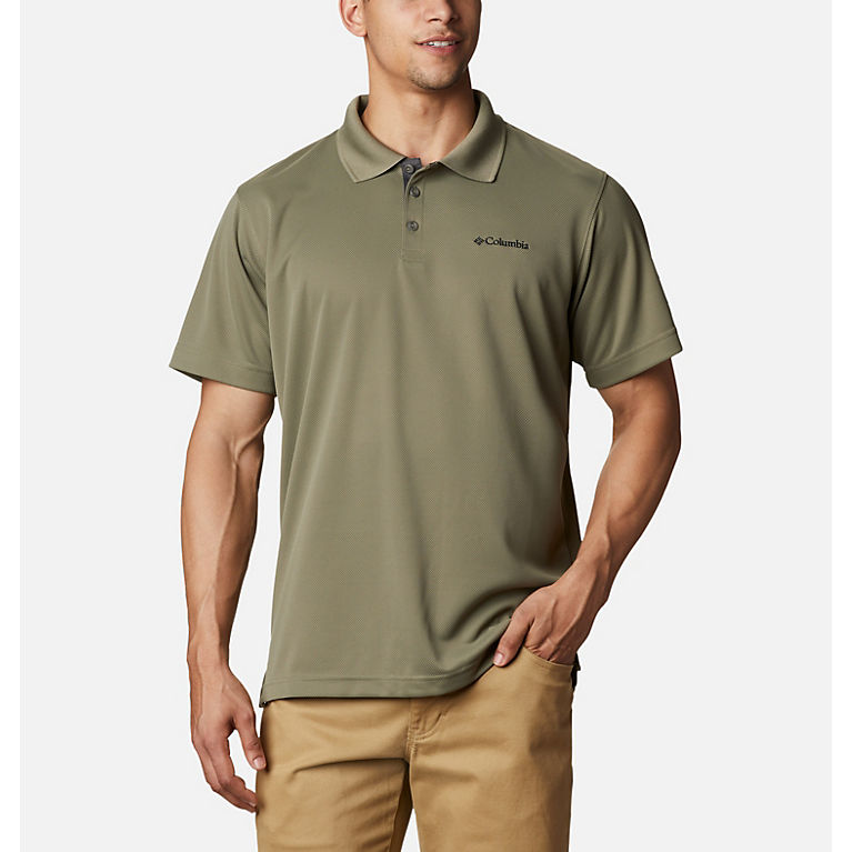 A Flag of US Virgin Islands Men Regular Fit Cotton Polo Shirts Classic Short Sleeve Polo Black