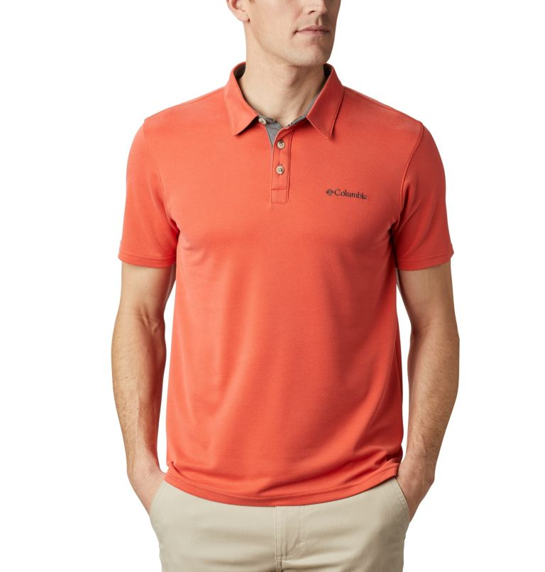 Nelson Point™ Polo | 845 | S Men's Nelson Point™ Polo, Wildfire, front
