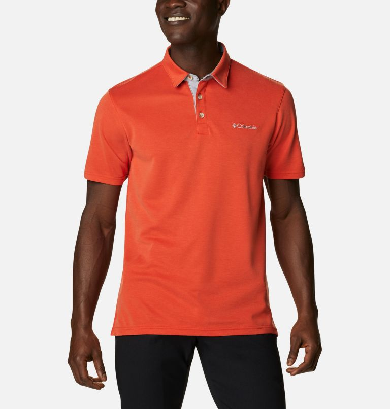 Nelson Point™ Polo | 846 | S Men's Nelson Point™ Polo, Bonfire, front