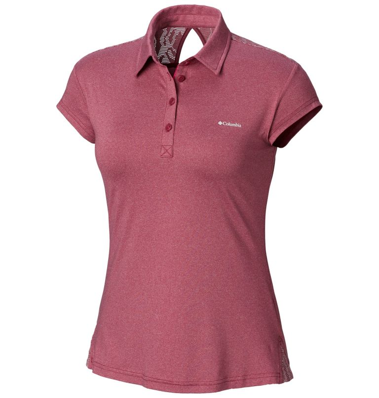 Peak to Point™ Novelty Polo | 550 | S Women's Peak to Point™ Novelty Polo, Wine Berry, front