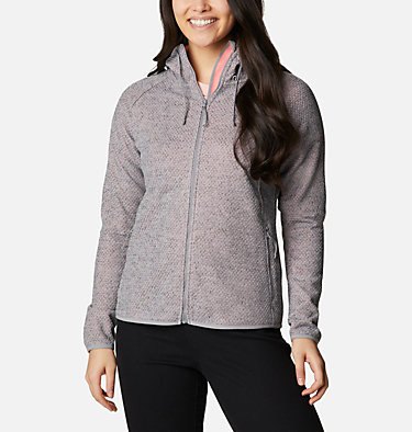 Pacific Point™ Hoodie mit durchgehendem Reißverschluss für Damen Pacific Point™ Full Zip Hoodie | 024 | L, City Grey Heather, Peach Cloud, front
