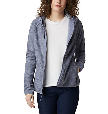Pacific Point™ Hoodie mit durchgehendem Reißverschluss für Damen Pacific Point™ Full Zip Hoodie | 024 | L, New Moon, Peach Cloud, front