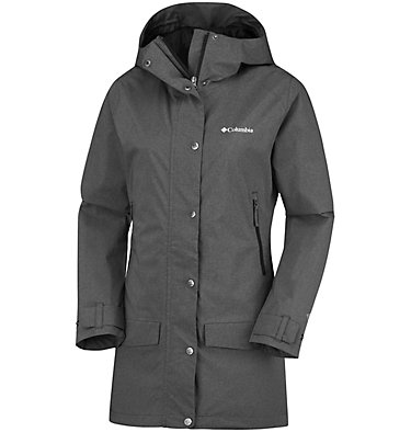 Women's Rainy Creek™ Waterproof Jacket Rainy Creek™ Trench | 466 | L, Black Heather, front