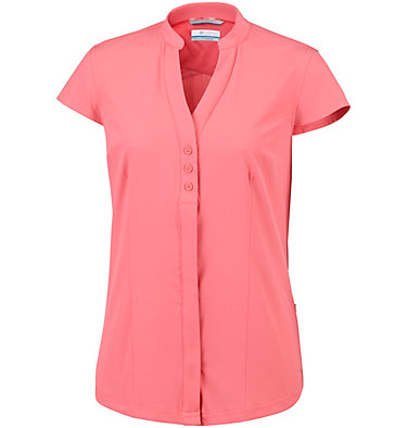 Women's Saturday Trail™ Stretch Short Sleeve Shirt Saturday Trail™ Stretch SS Shi | 550 | XS, Coral Bloom, front