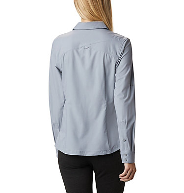 Women's Saturday Trail™ Stretch Shirt Saturday Trail™ Stretch LS Shi | 466 | L, Tradewinds Grey Heather, back