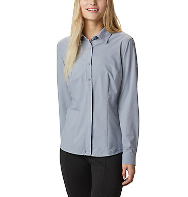 Women's Saturday Trail™ Stretch Shirt Saturday Trail™ Stretch LS Shi | 466 | L, Tradewinds Grey Heather, front