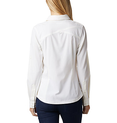 Saturday Trail™ langärmlige Bluse aus Stretchmaterial für Damen Saturday Trail™ Stretch LS Shi | 466 | L, White, back