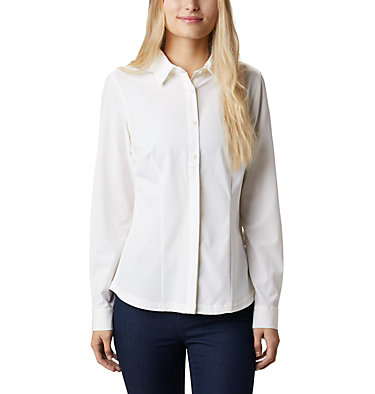 Women's Saturday Trail™ Stretch Shirt Saturday Trail™ Stretch LS Shi | 466 | L, White, front