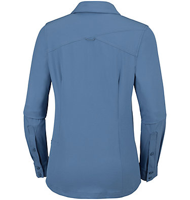 Saturday Trail™ langärmlige Bluse aus Stretchmaterial für Damen Saturday Trail™ Stretch LS Shi | 466 | L, Blue Dusk, back