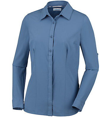 Saturday Trail™ langärmlige Bluse aus Stretchmaterial für Damen Saturday Trail™ Stretch LS Shi | 466 | L, Blue Dusk, front