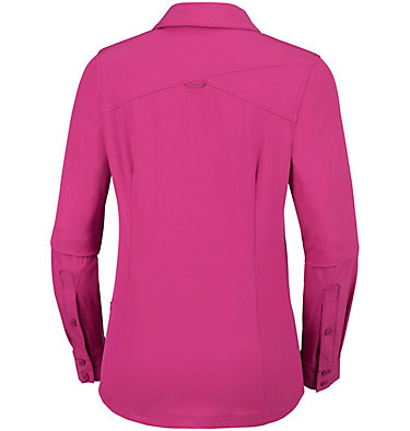 Saturday Trail™ langärmlige Bluse aus Stretchmaterial für Damen Saturday Trail™ Stretch LS Shi | 466 | L, Wine Berry, back