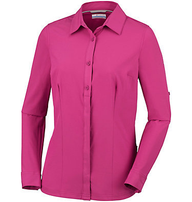 Saturday Trail™ langärmlige Bluse aus Stretchmaterial für Damen Saturday Trail™ Stretch LS Shi | 466 | L, Wine Berry, front