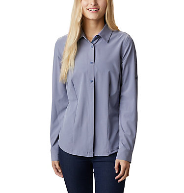 Saturday Trail™ langärmlige Bluse aus Stretchmaterial für Damen Saturday Trail™ Stretch LS Shi | 466 | L, New Moon, front