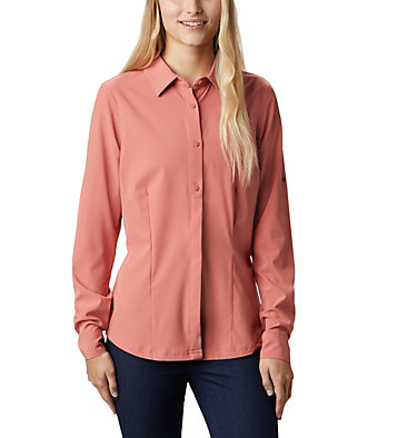 Saturday Trail™ langärmlige Bluse aus Stretchmaterial für Damen Saturday Trail™ Stretch LS Shi | 466 | L, Dark Coral, front