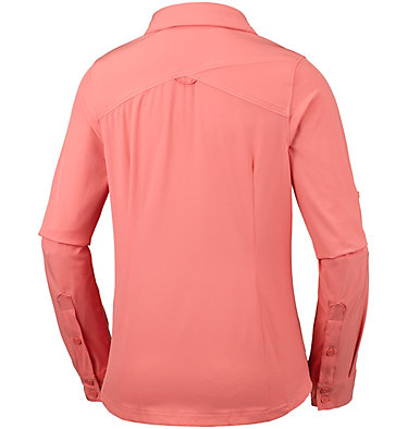 Saturday Trail™ langärmlige Bluse aus Stretchmaterial für Damen Saturday Trail™ Stretch LS Shi | 466 | L, Coral Bloom, back