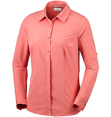 Saturday Trail™ langärmlige Bluse aus Stretchmaterial für Damen Saturday Trail™ Stretch LS Shi | 466 | L, Coral Bloom, front