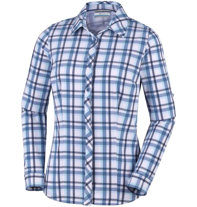 Women's Saturday Trail™ Stretch Long Sleeve Plaid Shirt Women's Saturday Trail™ Stretch Long Sleeve Plaid Shirt, front
