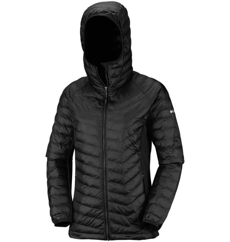 Powder Pass™ Hooded Jacket | 010 | XS Chaqueta híbrida con capucha Powder Pass™ para mujer, Black, a1