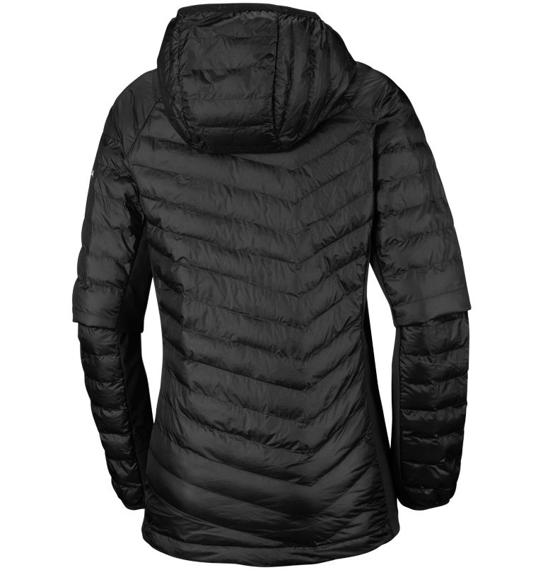 Powder Pass™ Hooded Jacket | 010 | XS Chaqueta híbrida con capucha Powder Pass™ para mujer, Black, back