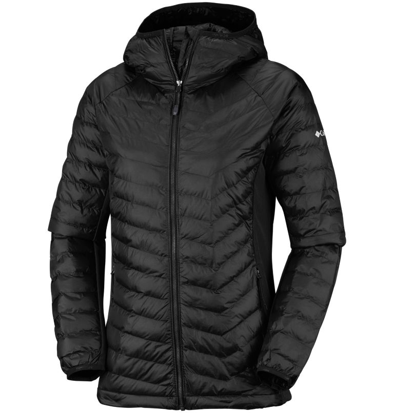 Powder Pass™ Hooded Jacket | 010 | XS Women's Powder Lite™ Hybrid Hooded Jacket, Black, front