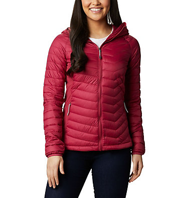 Powder Lite™ Hybrid-Kapuzenjacke für Damen Powder Pass™ Hooded Jacket | 010 | XS, Red Orchid, front