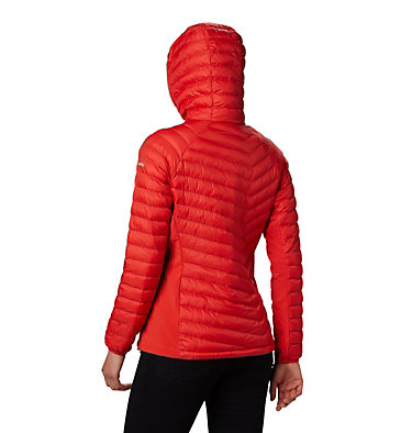 Women's Powder Lite™ Hybrid Hooded Jacket Powder Pass™ Hooded Jacket | 010 | XS, Bold Orange, back