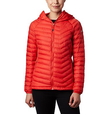 Powder Lite™ Hybrid-Kapuzenjacke für Damen Powder Pass™ Hooded Jacket | 010 | XS, Bold Orange, front