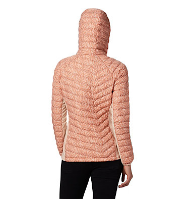 Powder Lite™ Hybrid-Kapuzenjacke für Damen Powder Pass™ Hooded Jacket | 010 | XS, Peach Cloud Ferny Ferns Print, back