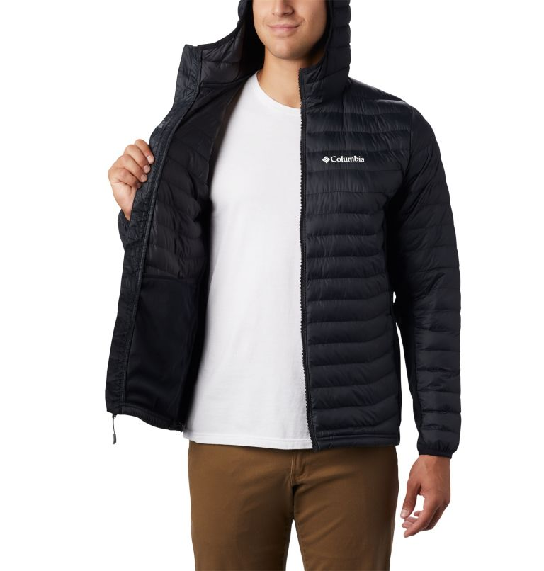 Powder Pass™ Hooded Jacket | 011 | M Giacca con cappuccio Powder Pass™ Hybrid da uomo, Black, a3