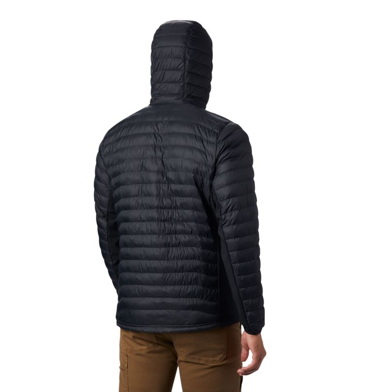 Powder Pass™ Hooded Jacket | 011 | M Giacca con cappuccio Powder Pass™ Hybrid da uomo, Black, back
