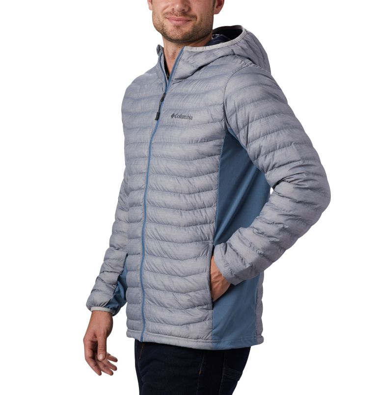Powder Pass™ Hooded Jacket | 039 | XXL Doudoune à Capuche Powder Pass™ Homme, Cool Grey Heather, Graphite, a1