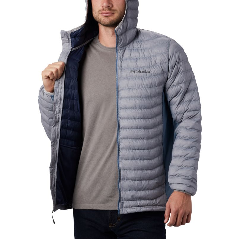Powder Pass™ Hooded Jacket | 039 | XXL Doudoune à Capuche Powder Pass™ Homme, Cool Grey Heather, Graphite, a3