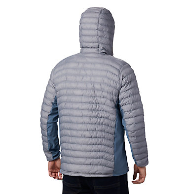 Chaqueta híbrida con capucha Powder Pass™ para hombre Powder Pass™ Hooded Jacket | 437 | S, Cool Grey Heather, Graphite, back