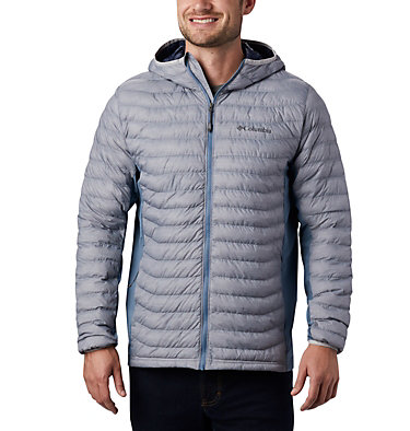 Chaqueta híbrida con capucha Powder Pass™ para hombre Powder Pass™ Hooded Jacket | 437 | S, Cool Grey Heather, Graphite, front
