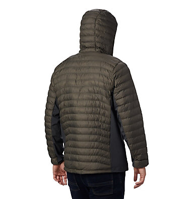 Chaqueta híbrida con capucha Powder Pass™ para hombre Powder Pass™ Hooded Jacket | 437 | S, New Olive Heather, back