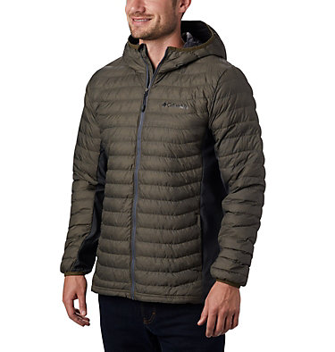 Chaqueta híbrida con capucha Powder Pass™ para hombre Powder Pass™ Hooded Jacket | 437 | S, New Olive Heather, front