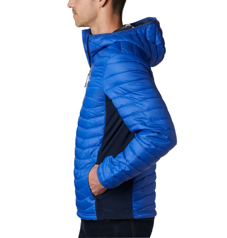 Powder Pass™ Hooded Jacket | 437 | S Giacca con cappuccio Powder Pass™ Hybrid da uomo, Azul, Collegiate Navy, a1