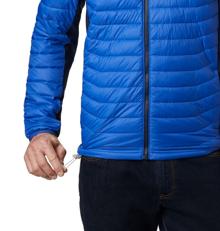 Powder Pass™ Hooded Jacket | 437 | S Giacca con cappuccio Powder Pass™ Hybrid da uomo, Azul, Collegiate Navy, a2