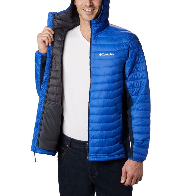 Powder Pass™ Hooded Jacket | 437 | S Giacca con cappuccio Powder Pass™ Hybrid da uomo, Azul, Collegiate Navy, a3